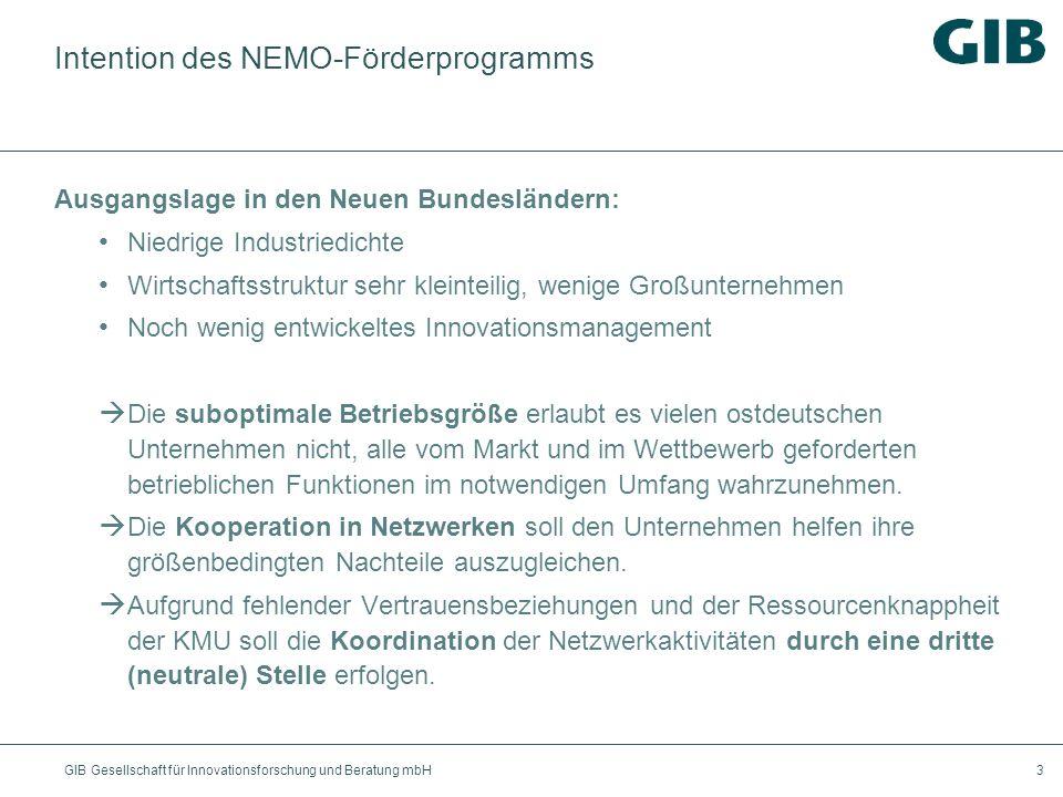 Intention des NEMO-Förderprogramms