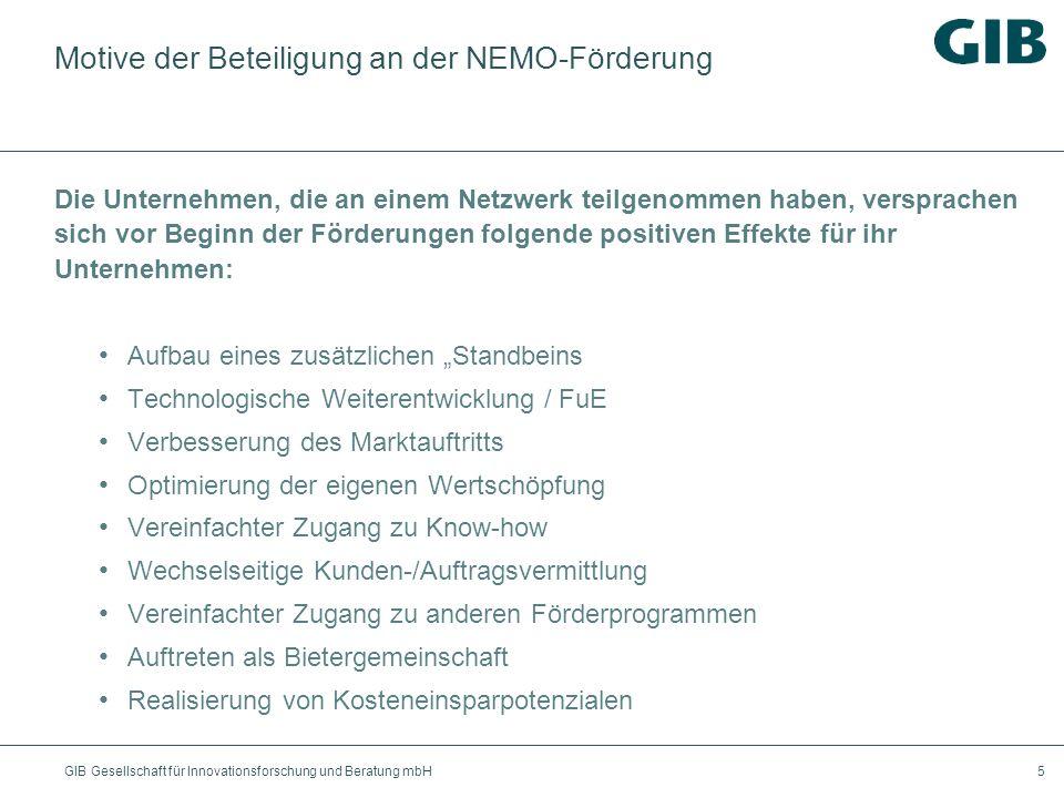 Motive der Beteiligung an der NEMO-Förderung