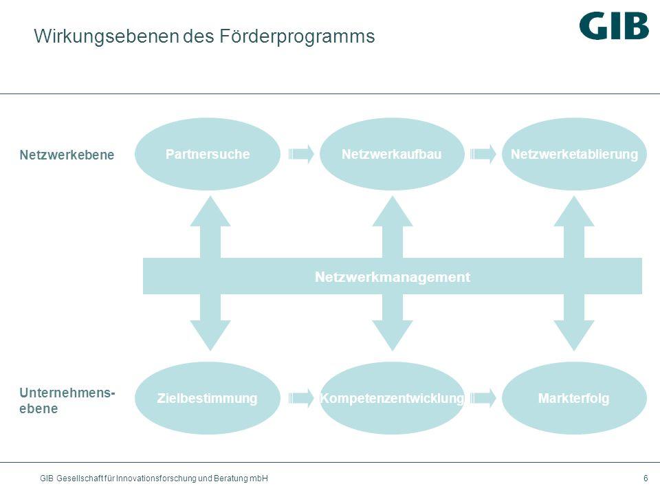 Wirkungsebenen des Förderprogramms