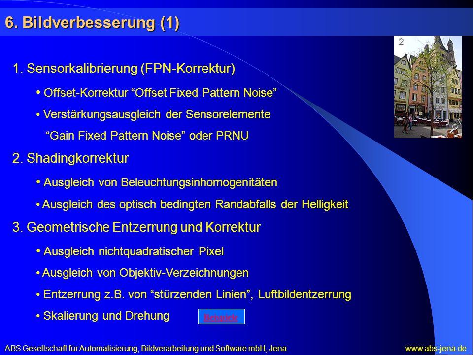 6. Bildverbesserung (1) 1. Sensorkalibrierung (FPN-Korrektur)