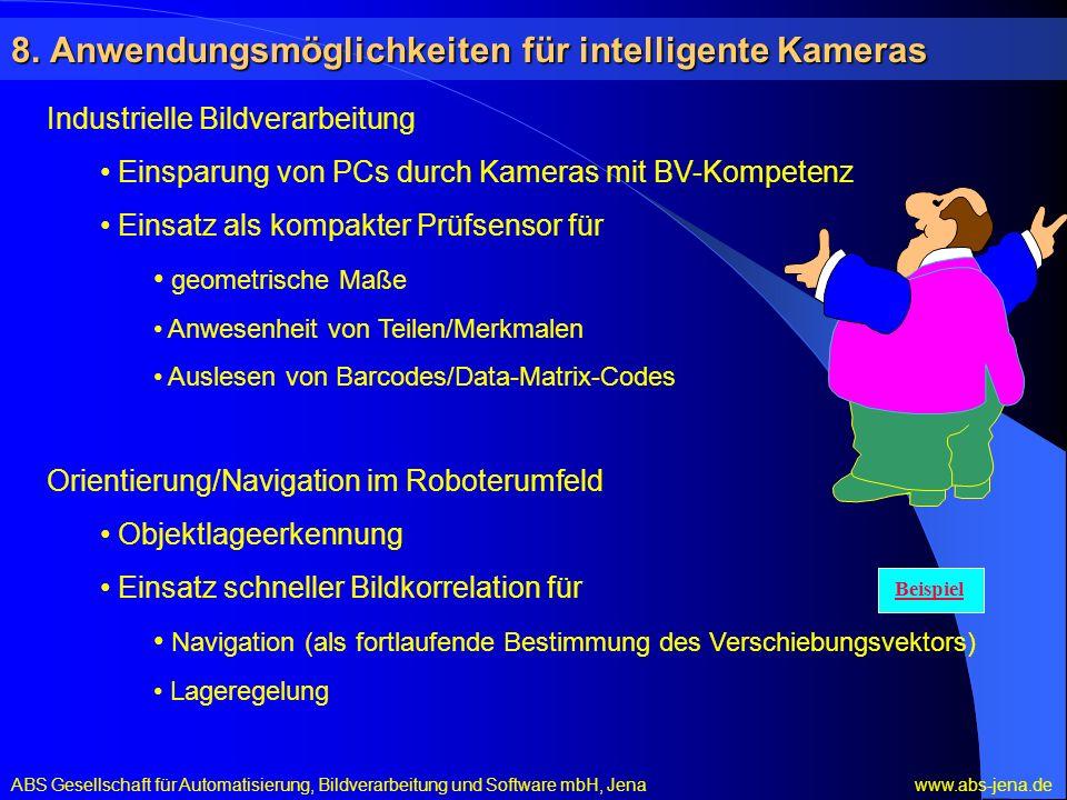8. Anwendungsmöglichkeiten für intelligente Kameras