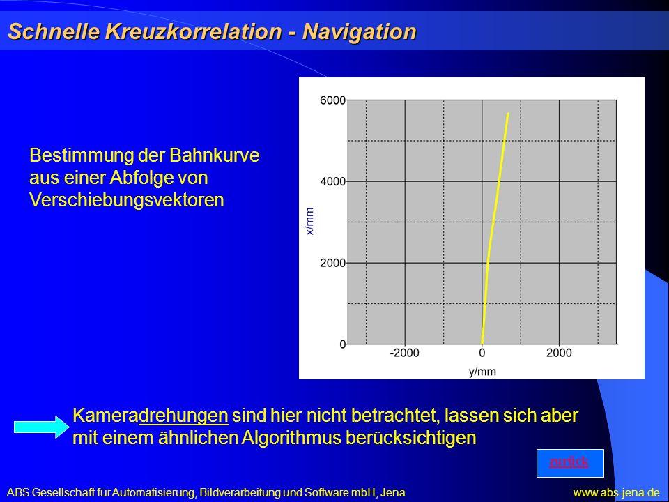 Schnelle Kreuzkorrelation - Navigation