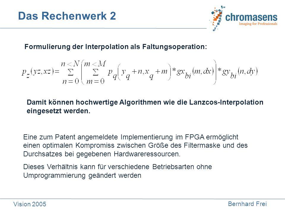 Das Rechenwerk 2 Formulierung der Interpolation als Faltungsoperation: