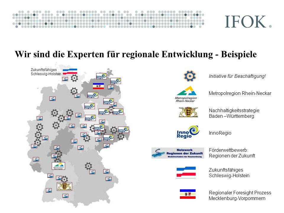 Wir sind die Experten für regionale Entwicklung - Beispiele