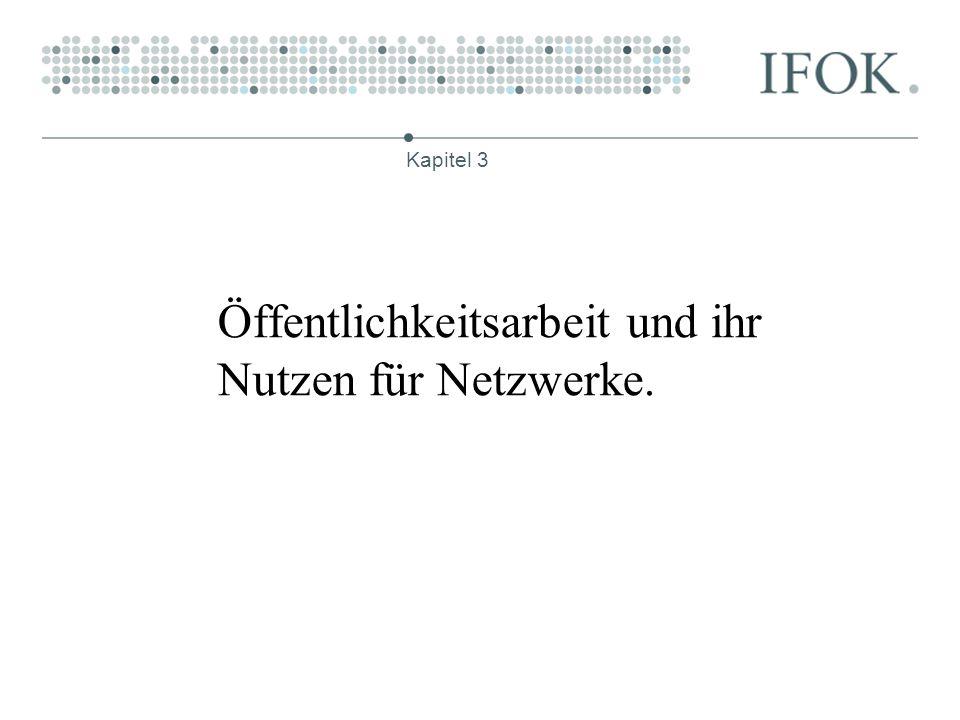 Öffentlichkeitsarbeit und ihr Nutzen für Netzwerke.