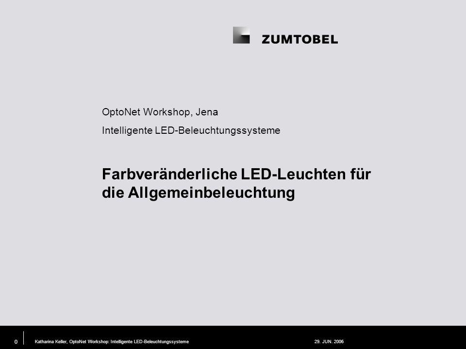 Farbveränderliche LED-Leuchten für die Allgemeinbeleuchtung