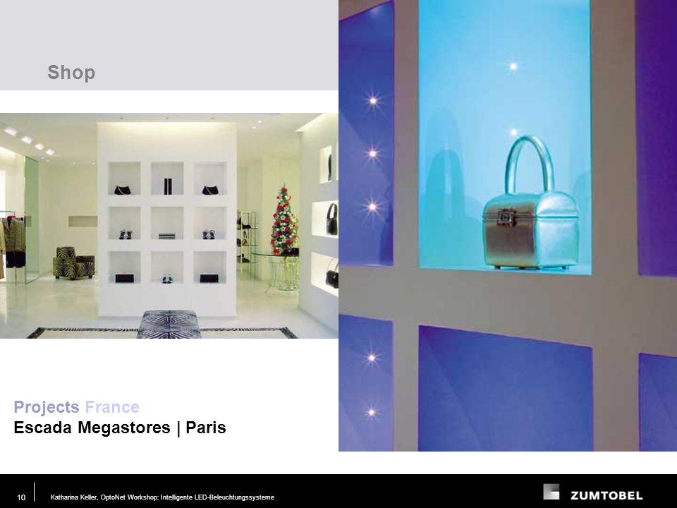 Shop Projects France Escada Megastores | Paris Lighting task