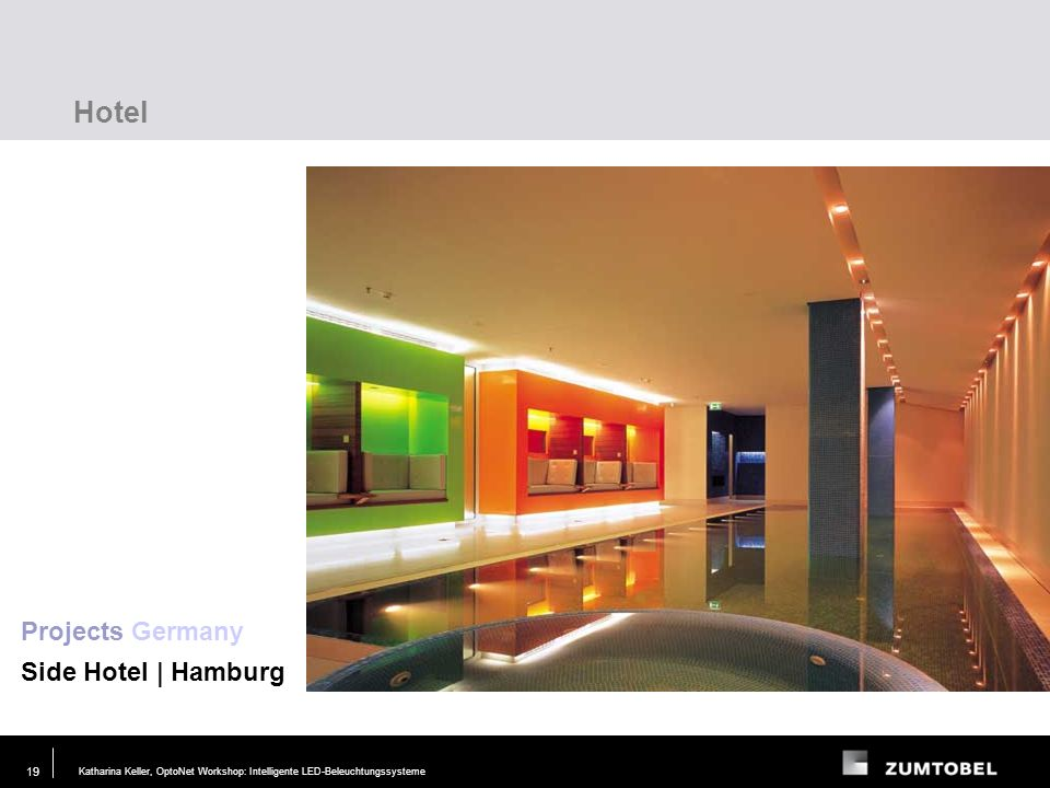 Hotel Projects Germany Side Hotel | Hamburg Lighting task Requirements