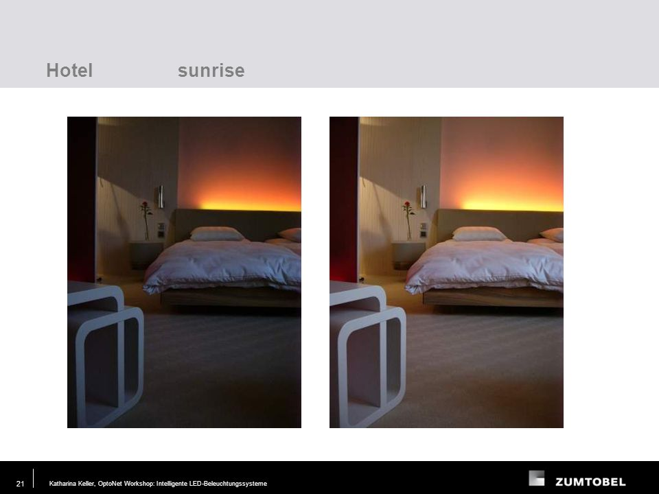 Hotel sunrise Lighting task Requirements Layout Test Modelling