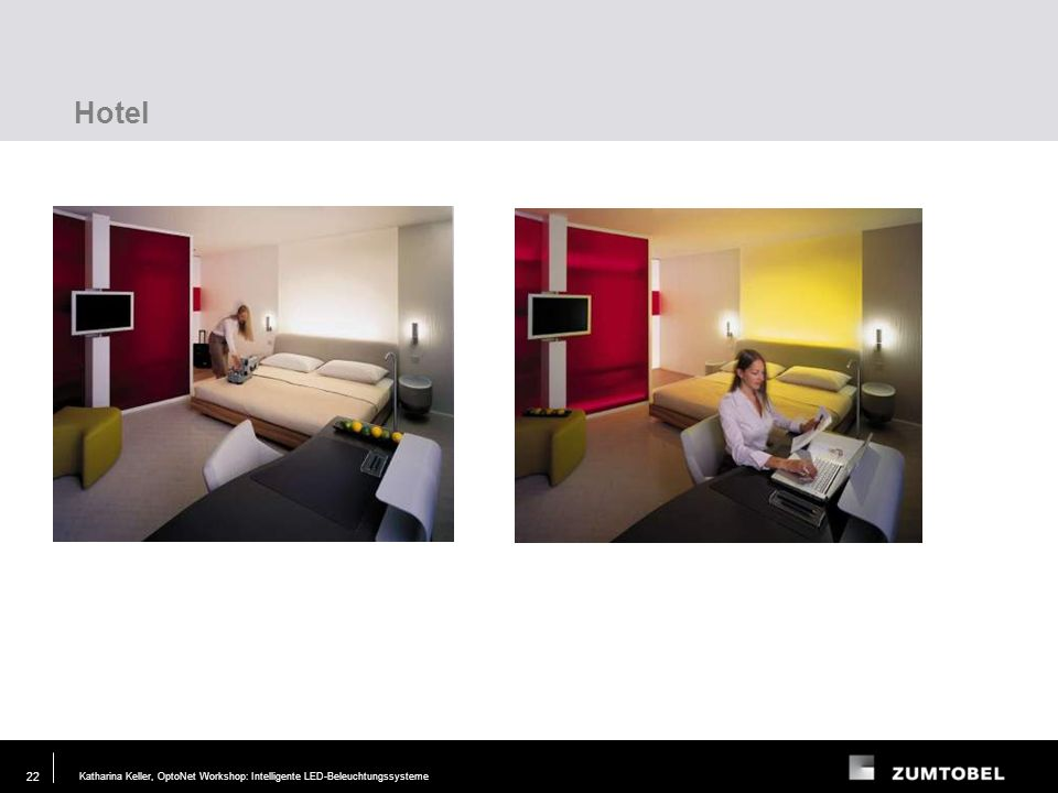 Hotel Lighting task Requirements Layout Test Modelling