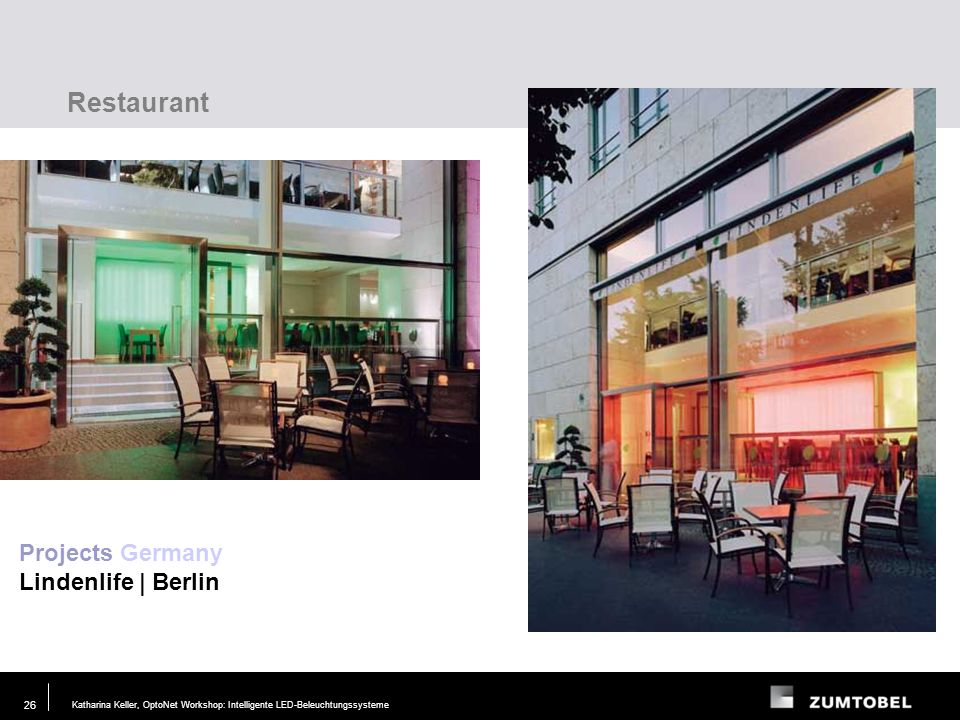 Restaurant Projects Germany Lindenlife | Berlin Lighting task