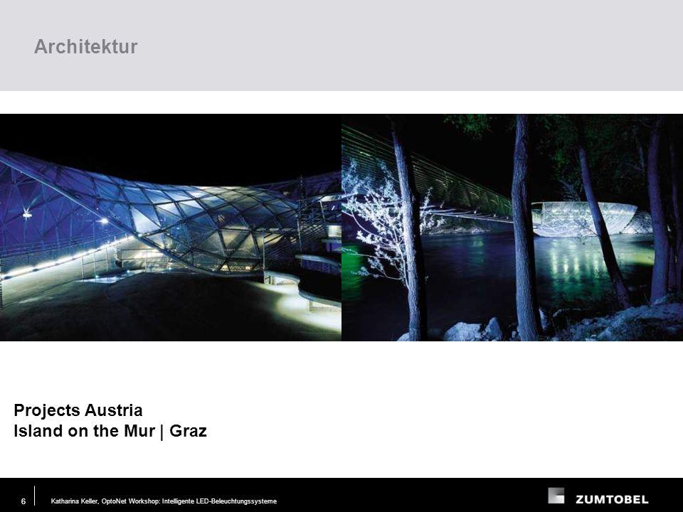 Architektur Projects Austria Island on the Mur | Graz Lighting task