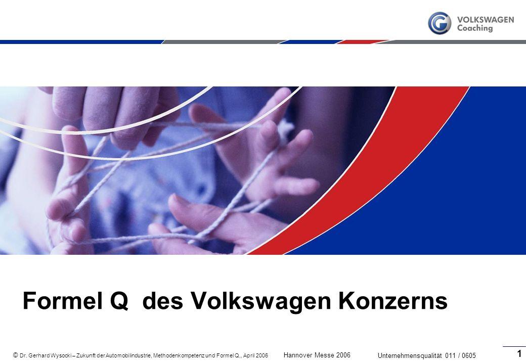 Formel Q des Volkswagen Konzerns