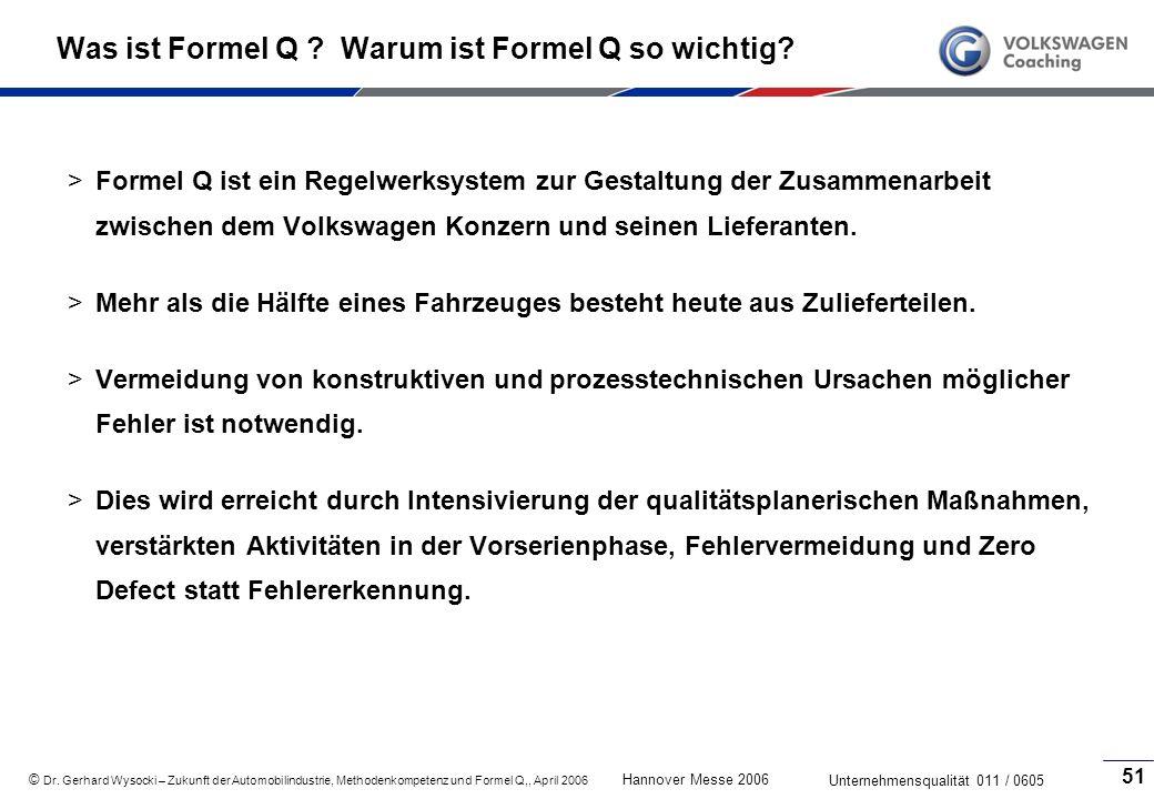 Was ist Formel Q Warum ist Formel Q so wichtig
