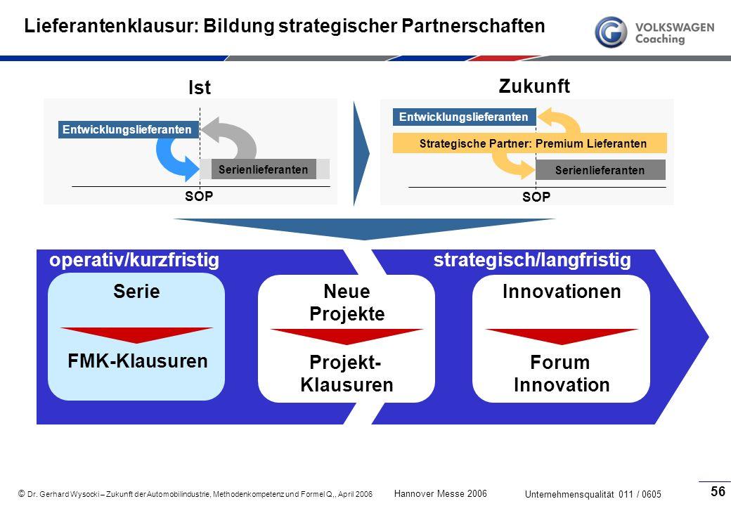 Lieferantenklausur: Bildung strategischer Partnerschaften