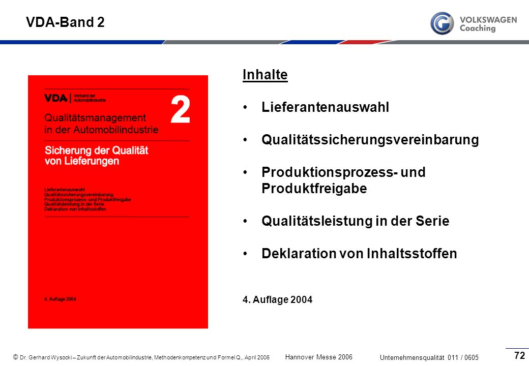 Qualitätssicherungsvereinbarung