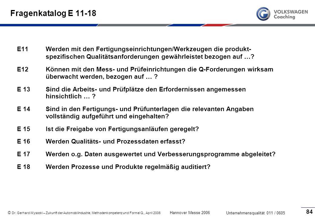 Fragenkatalog E 11-18
