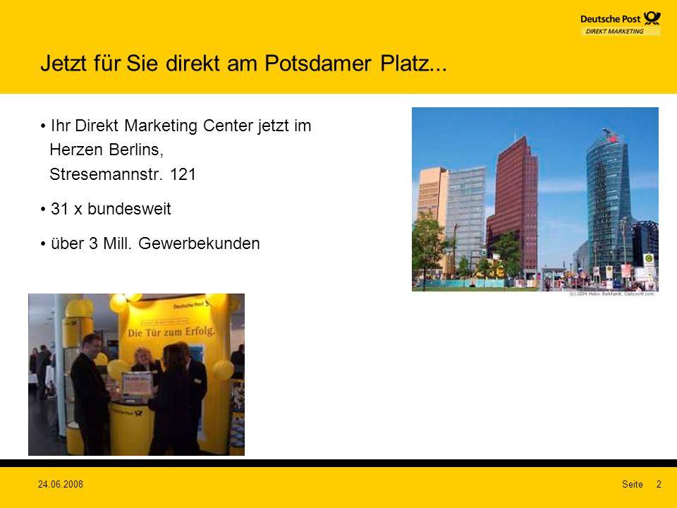 Jetzt für Sie direkt am Potsdamer Platz...