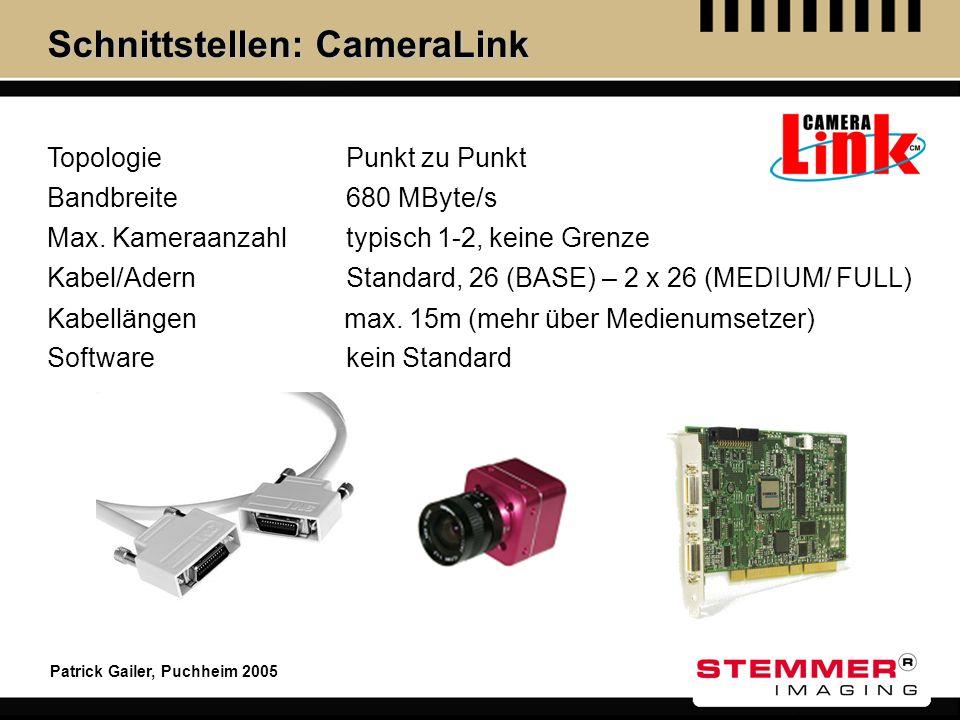 Schnittstellen: CameraLink