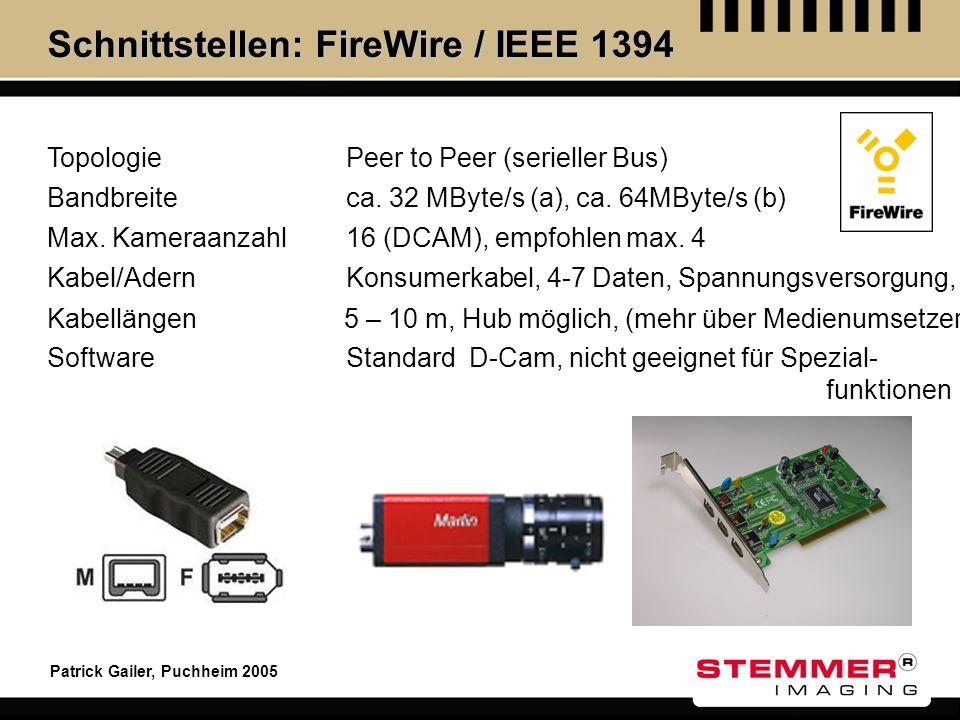 Schnittstellen: FireWire / IEEE 1394