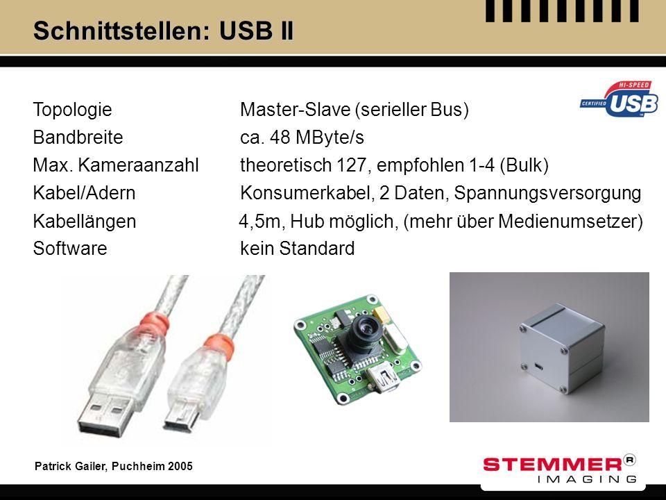 Schnittstellen: USB II