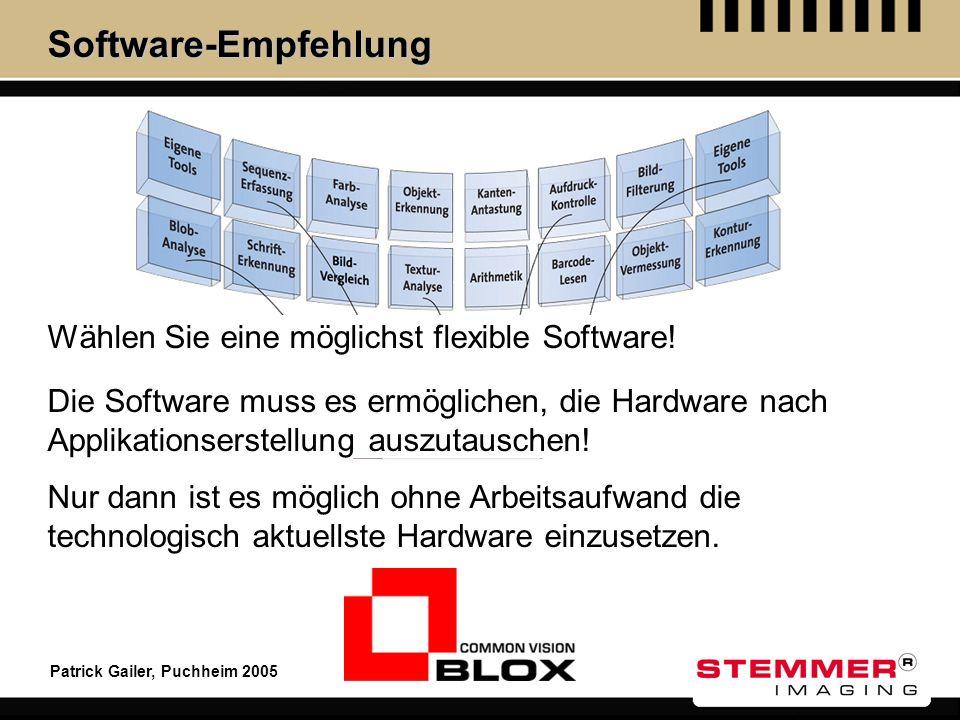 Software-Empfehlung Wählen Sie eine möglichst flexible Software!