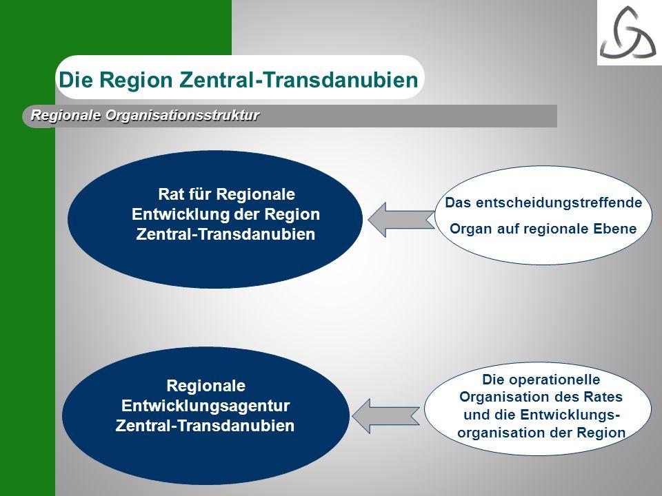 Das entscheidungstreffende Organ auf regionale Ebene