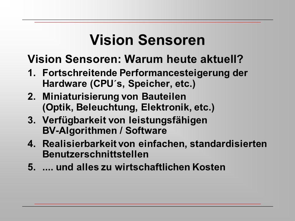 Vision Sensoren Vision Sensoren: Warum heute aktuell