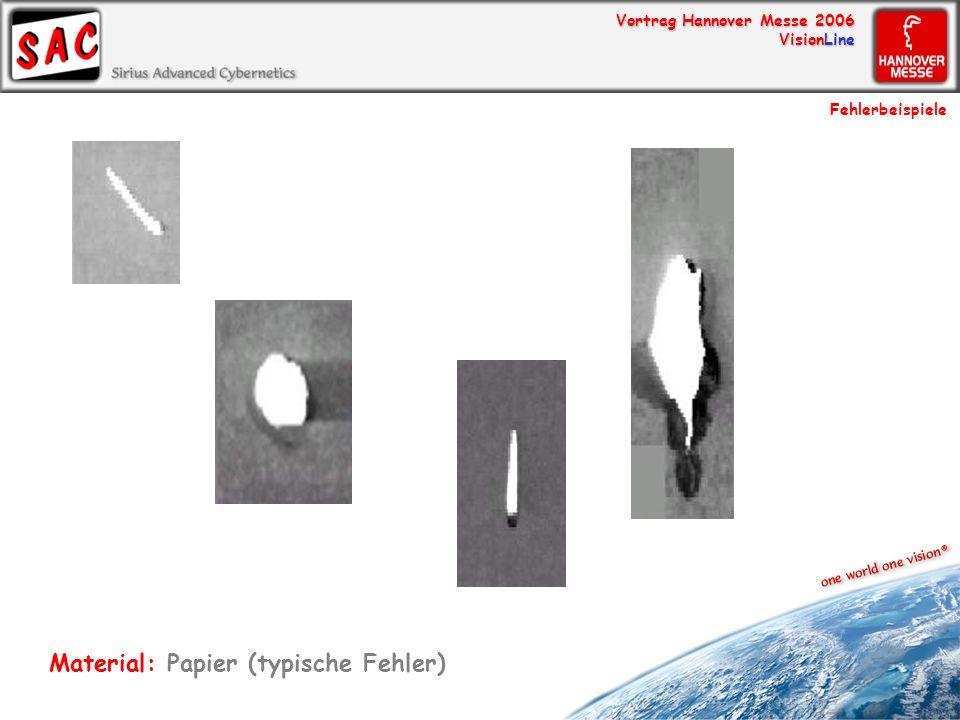 Material: Papier (typische Fehler)