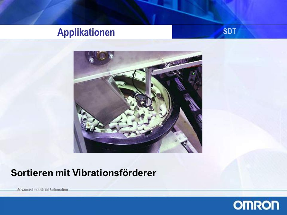 Applikationen SDT Sortieren mit Vibrationsförderer