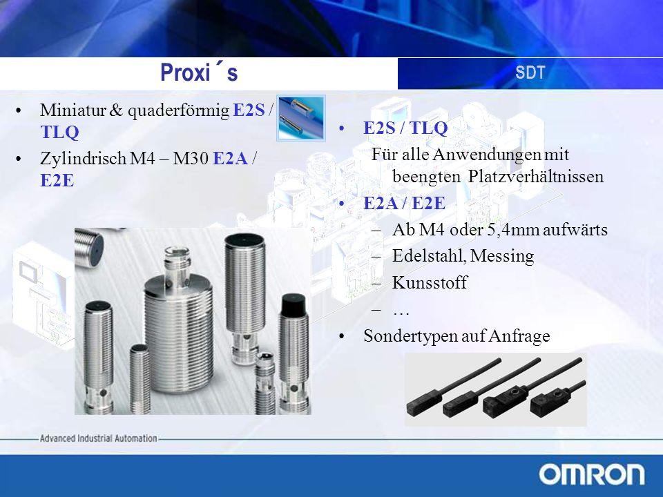 Proxi´s SDT Miniatur & quaderförmig E2S / TLQ E2S / TLQ