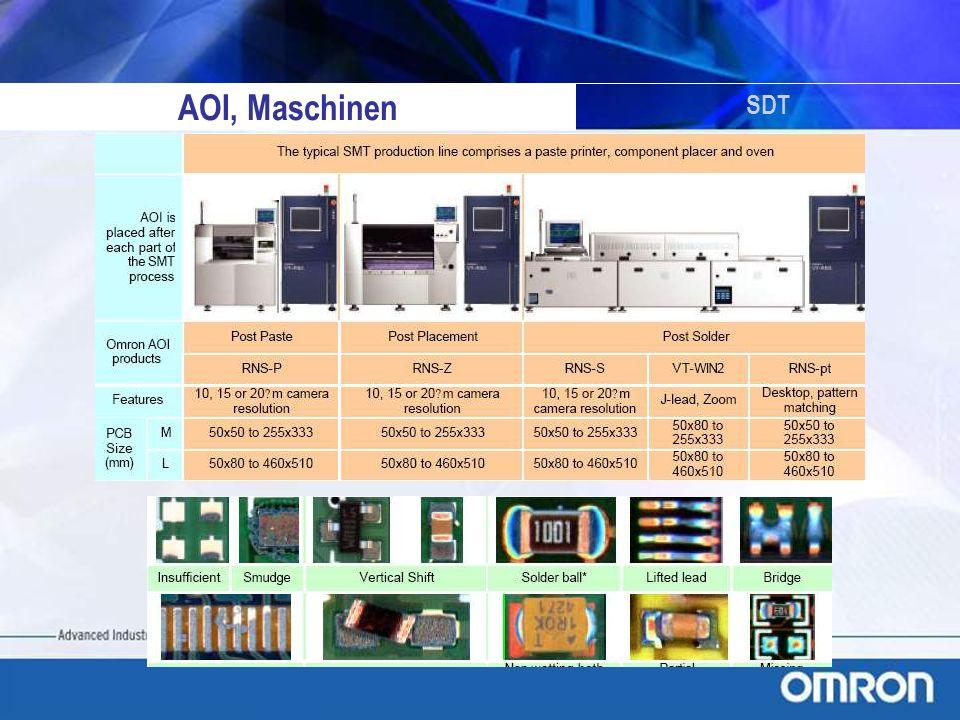 AOI, Maschinen SDT