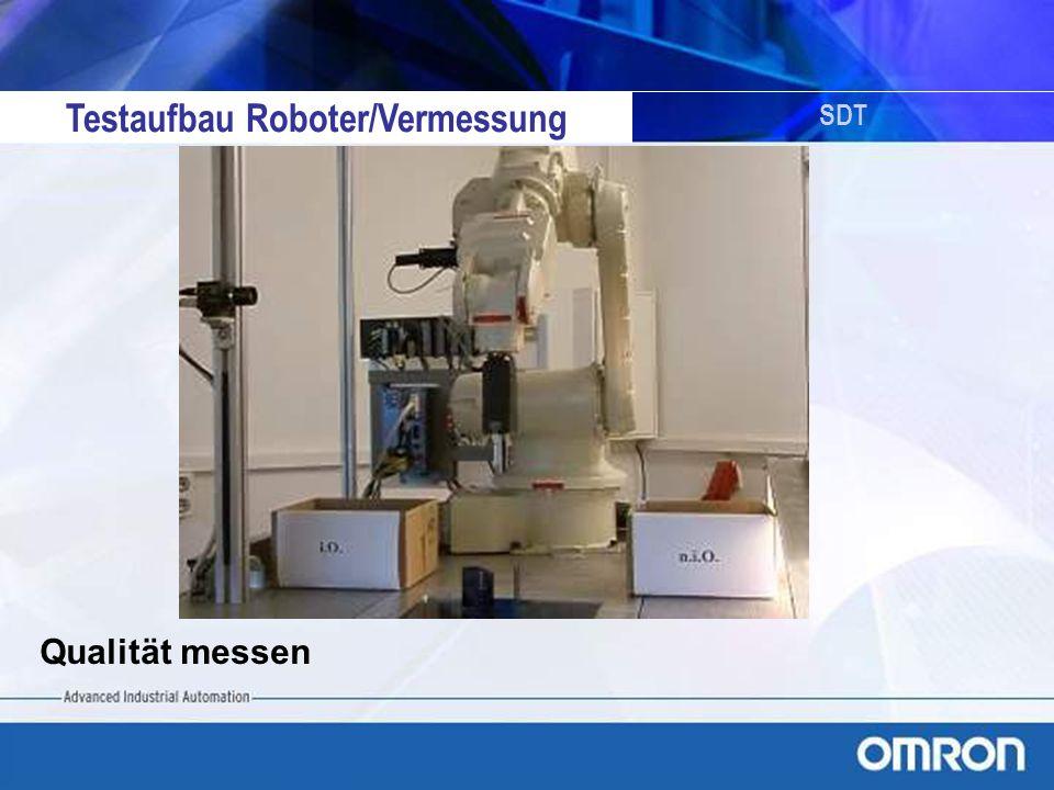 Testaufbau Roboter/Vermessung