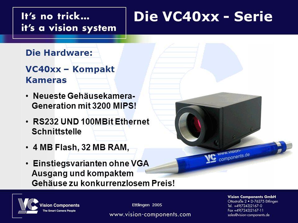 Die VC40xx - Serie Die Hardware: VC40xx – Kompakt Kameras