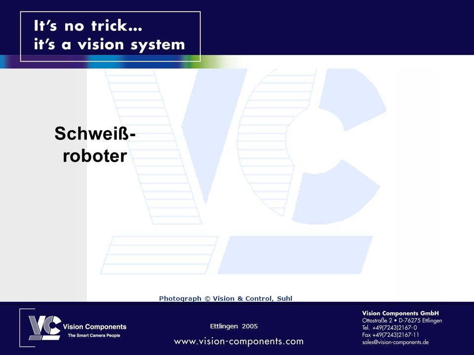 Schweiß-roboter Photograph © Vision & Control, Suhl