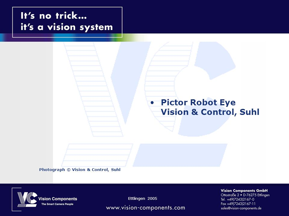 Pictor Robot Eye Vision & Control, Suhl