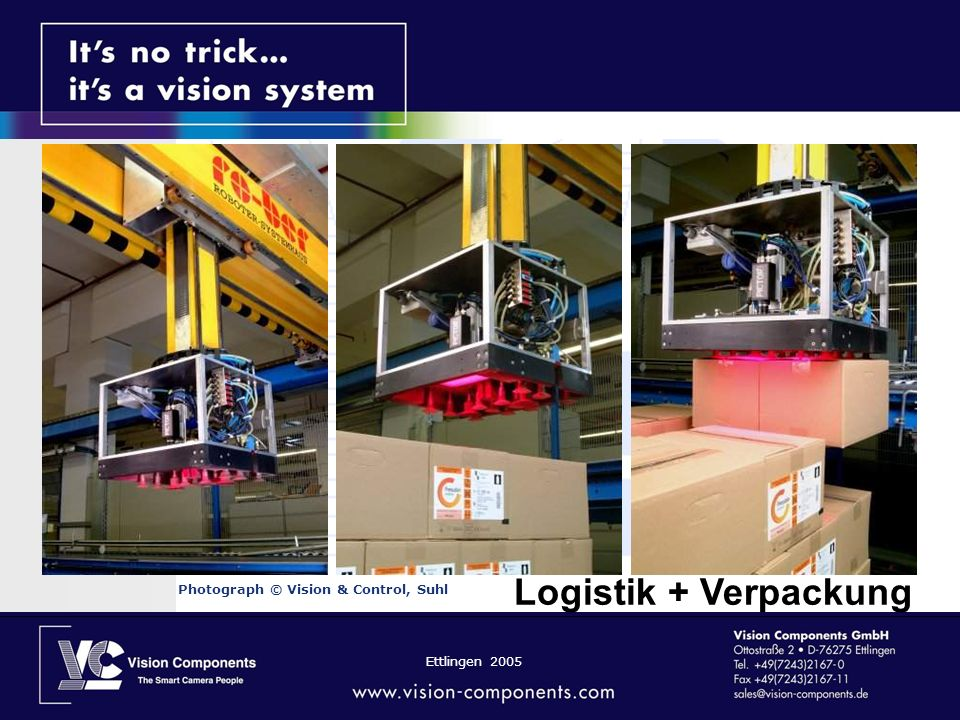 Logistik + Verpackung Photograph © Vision & Control, Suhl
