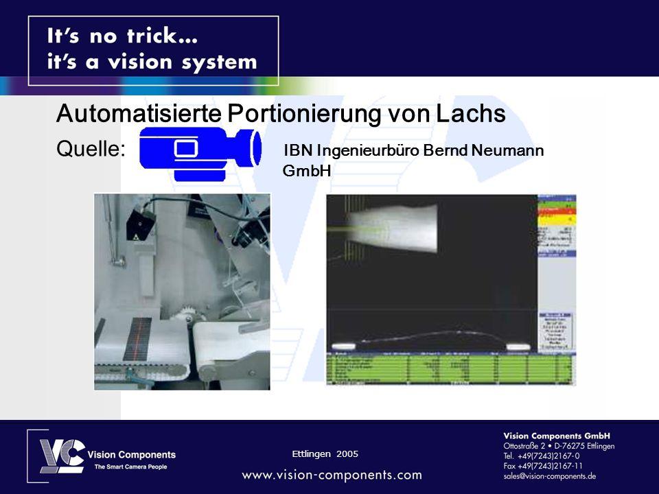 Automatisierte Portionierung von Lachs