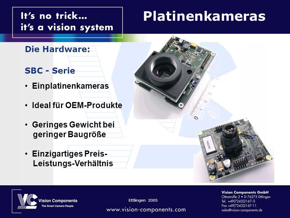 Platinenkameras Die Hardware: SBC - Serie Einplatinenkameras