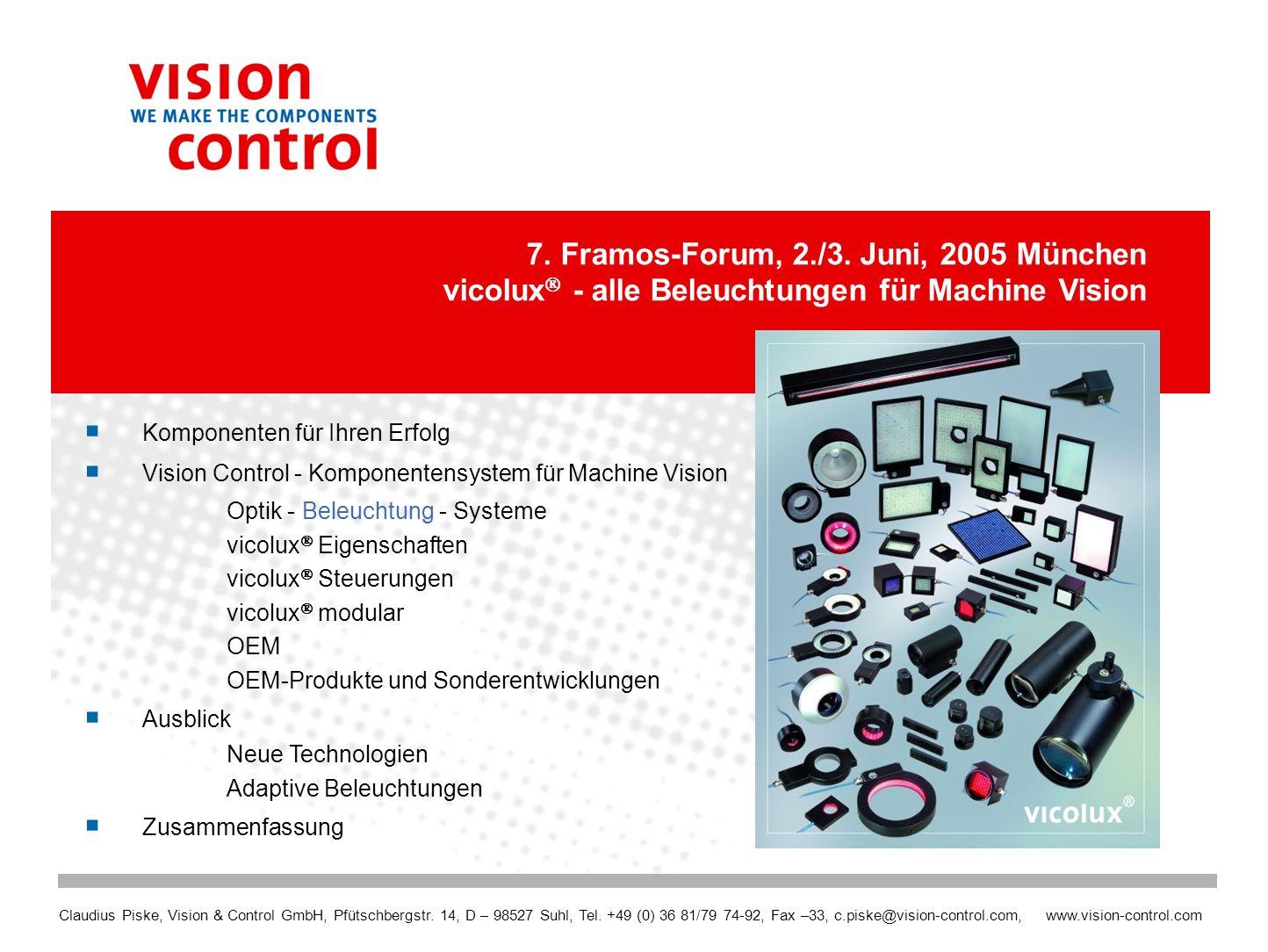 7. Framos-Forum, 2./3. Juni, 2005 München