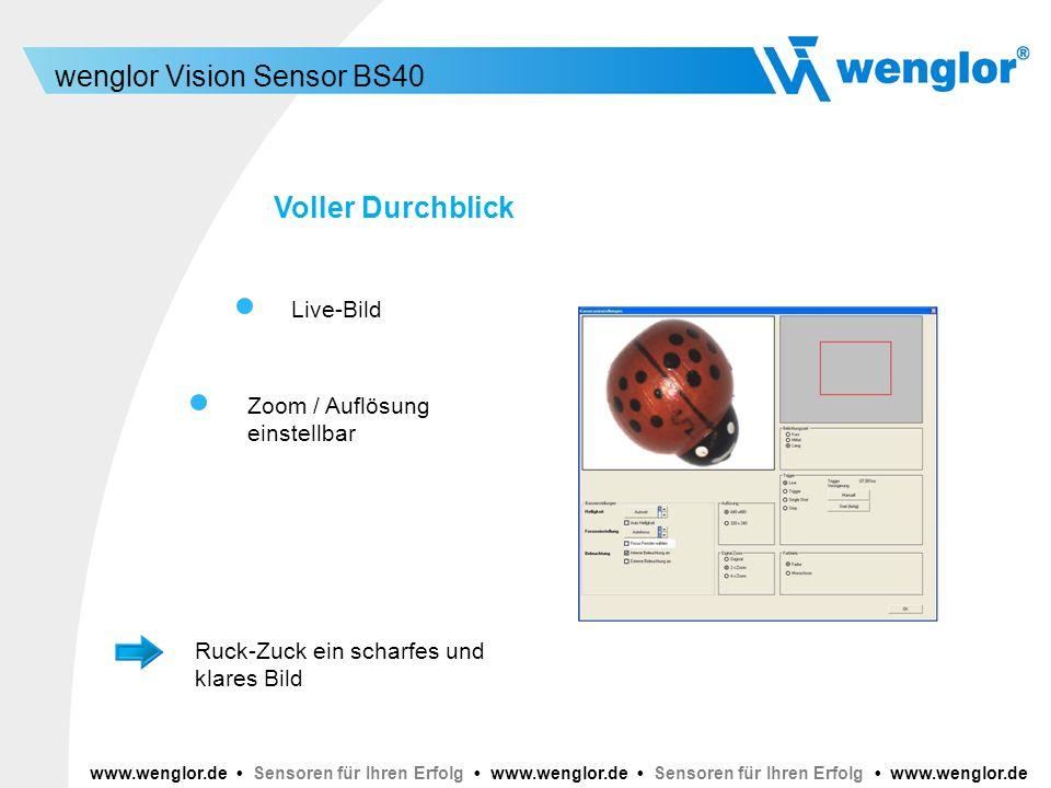 Voller Durchblick Live-Bild Zoom / Auflösung einstellbar