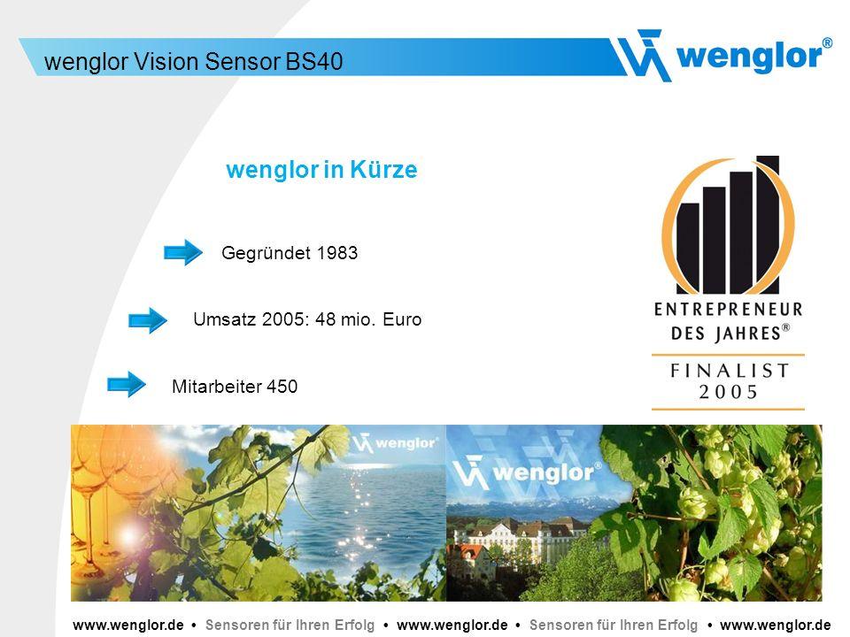 wenglor in Kürze Gegründet 1983 Umsatz 2005: 48 mio. Euro