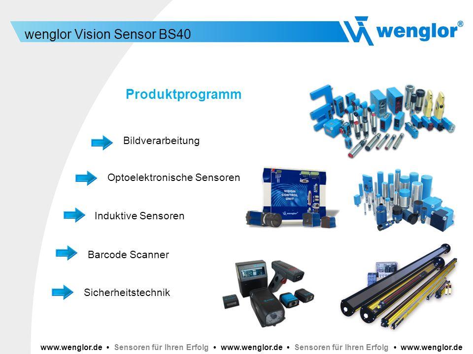Produktprogramm Bildverarbeitung Optoelektronische Sensoren