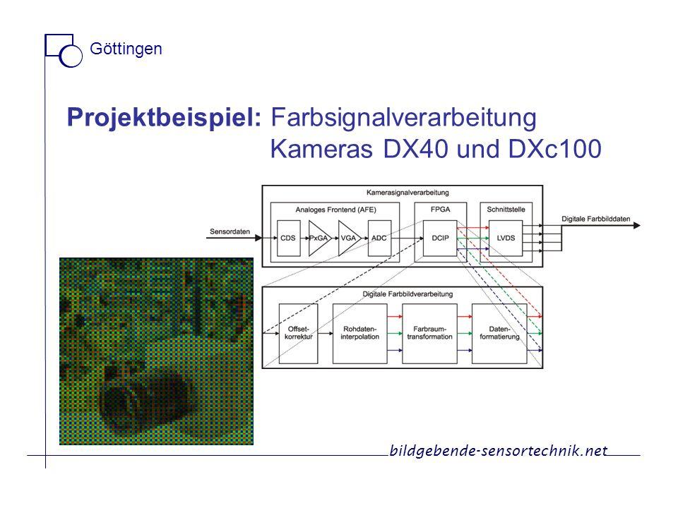 Projektbeispiel: Farbsignalverarbeitung Kameras DX40 und DXc100