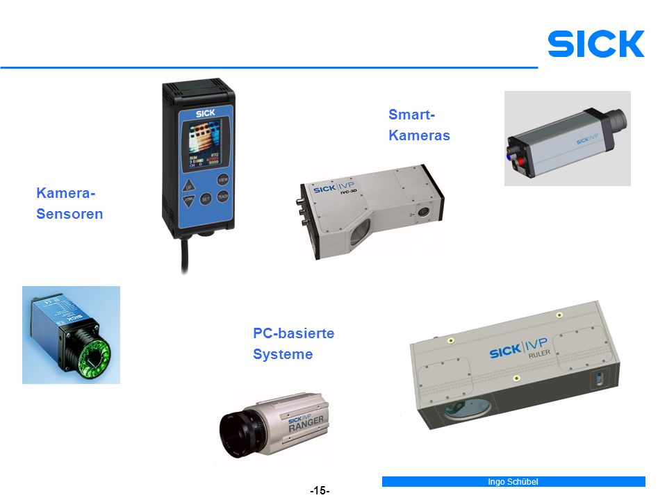 Smart- Kameras Kamera- Sensoren PC-basierte Systeme