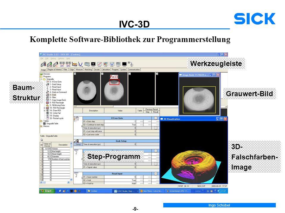 IVC-3D Komplette Software-Bibliothek zur Programmerstellung