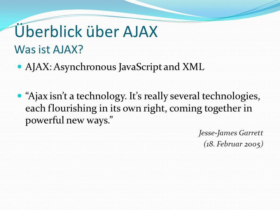 Überblick über AJAX Was ist AJAX
