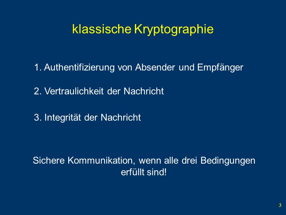 klassische Kryptographie