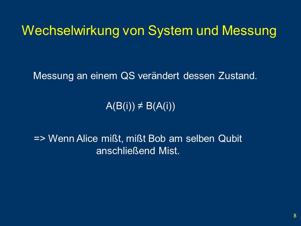 Wechselwirkung von System und Messung