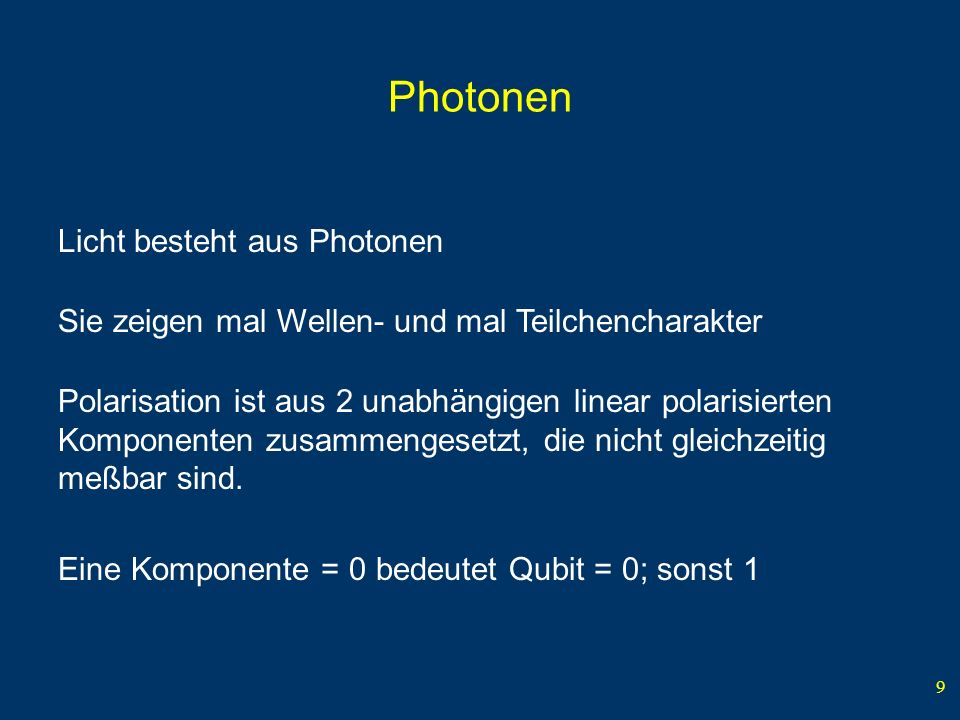 Photonen Licht besteht aus Photonen